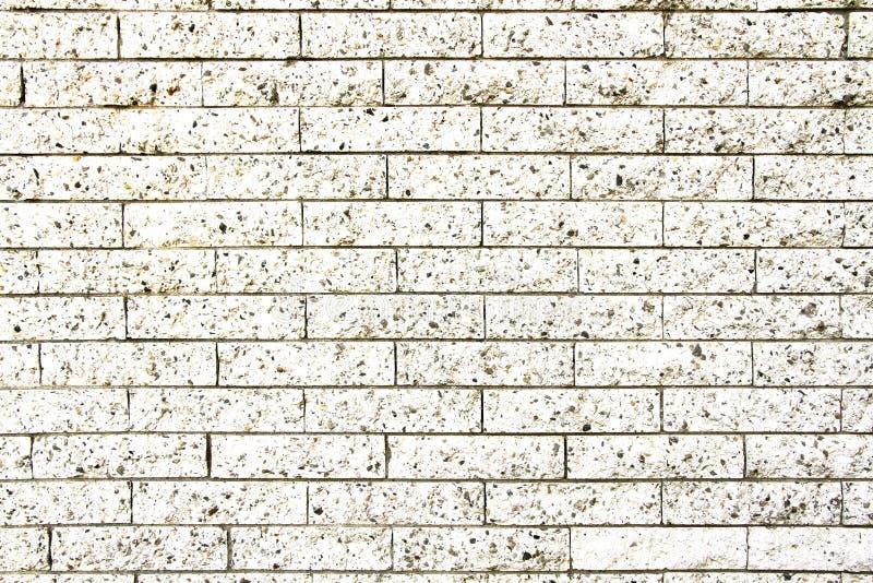 Parede de pedra do tijolo branco sujo simples como o fundo sem emenda da textura do teste padrão fotos de stock