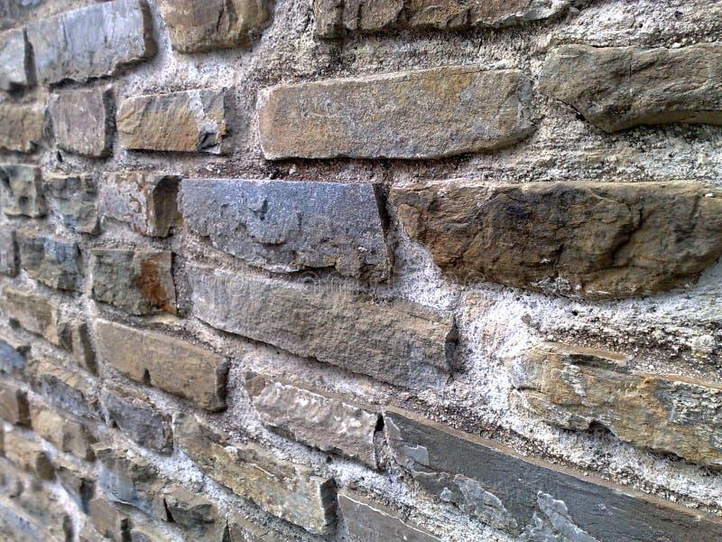 Parede de pedra em Itália foto de stock