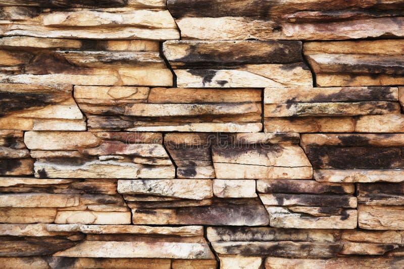 Parede de pedra empilhada foto de stock