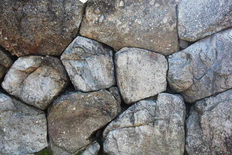 Parede de pedra empilhada imagens de stock royalty free