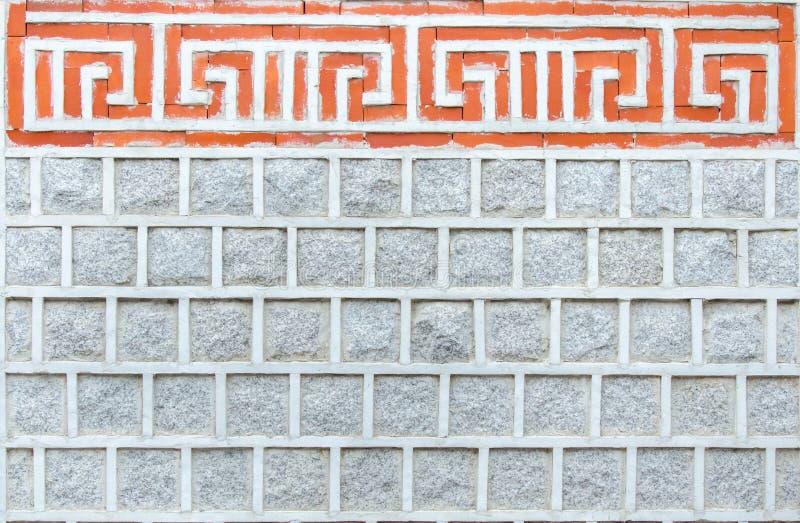 A parede de pedra preservou Coreia antiga. fotos de stock royalty free