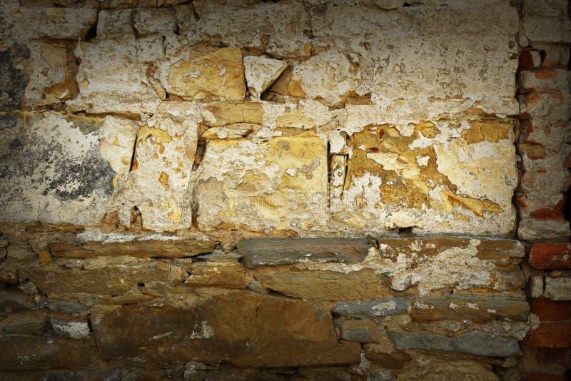 Parede de pedra suja velha imagens de stock