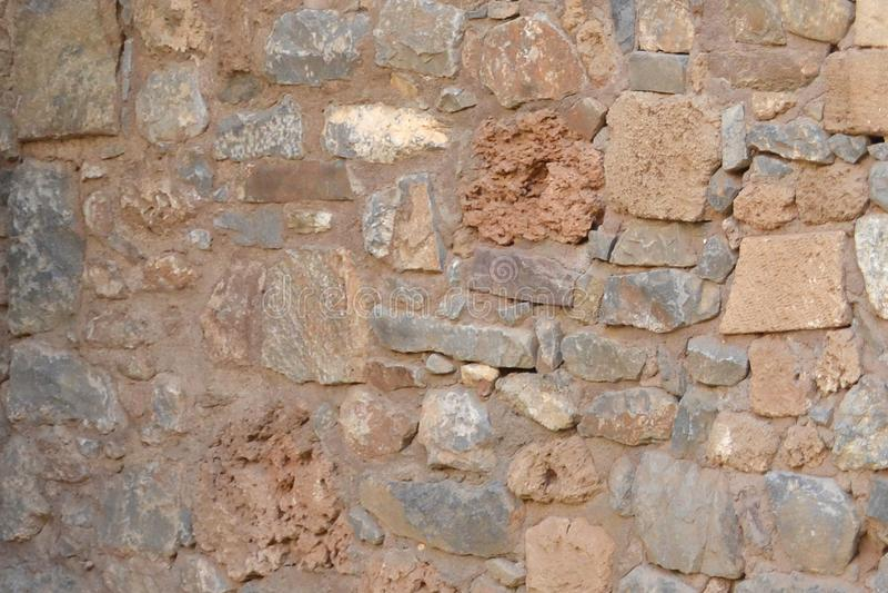 Parede de pedra velha foto de stock