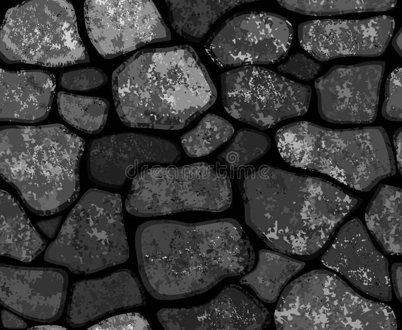 Parede de pedras sem emenda da textura do vetor ilustração do vetor