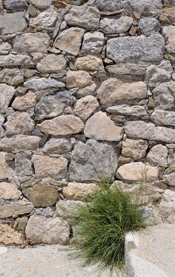 Parede de retenção de pedra imagem de stock