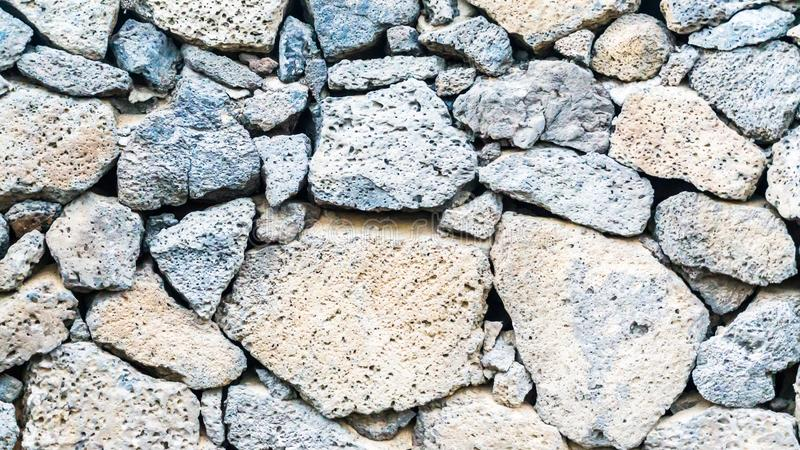 Parede de rochas da lava imagem de stock