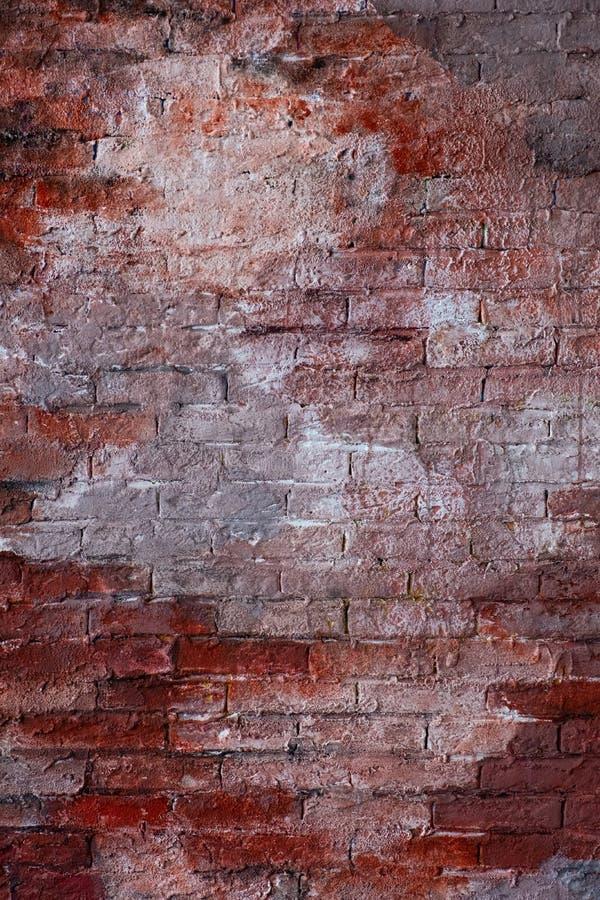 Parede de tijolo à moda do vintage vermelho imagens de stock royalty free