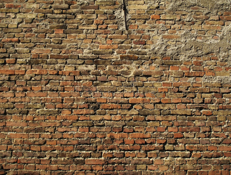 Parede de tijolo 2 fotografia de stock