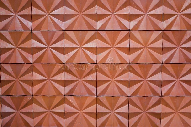 Parede de tijolo alaranjada do vintage fotos de stock
