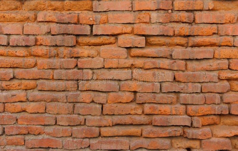 Parede de tijolo alaranjada velha foto de stock royalty free
