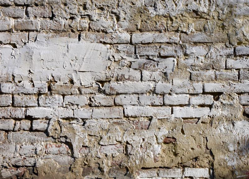 Parede de tijolo antiga, fundo, textura fotos de stock royalty free