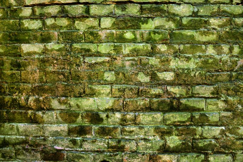Parede de tijolo antiga, fundo, textura foto de stock