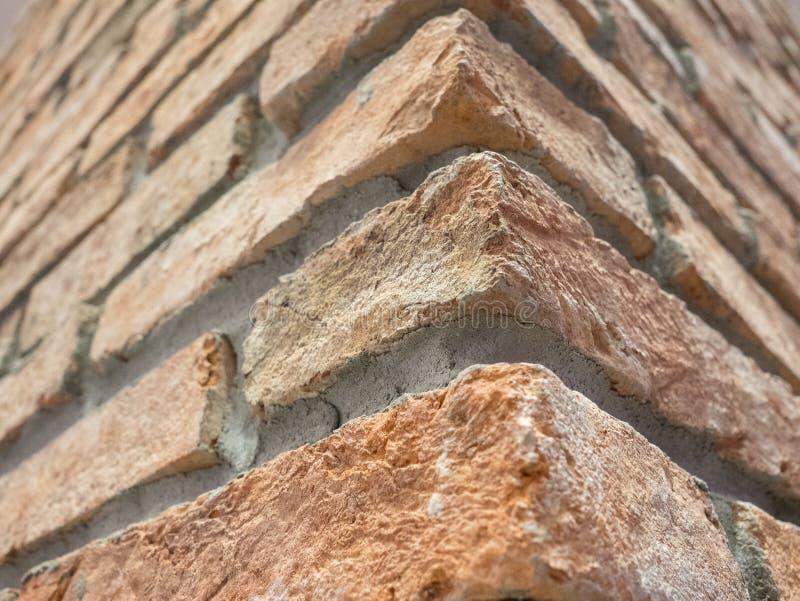 Parede de tijolo ascendente fechado foto de stock royalty free