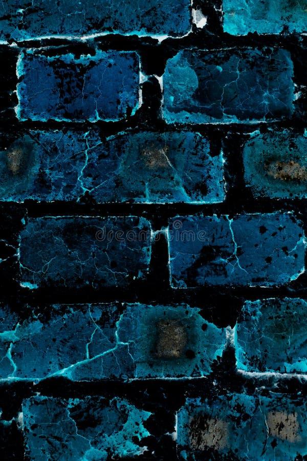 Parede de tijolo azul abstrata imagens de stock royalty free