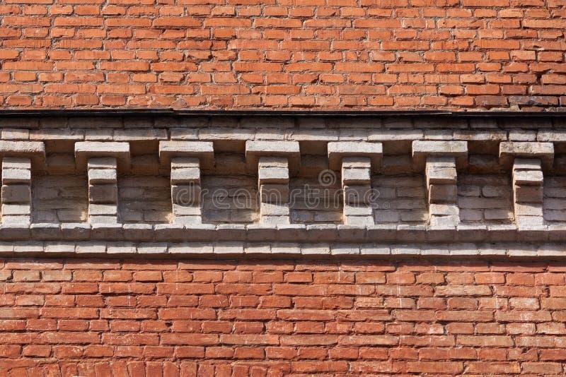 Parede de tijolo bonita com um freio no estilo clássico fotos de stock