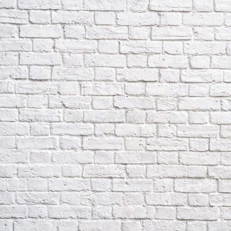 Parede de tijolo branca fotografia de stock