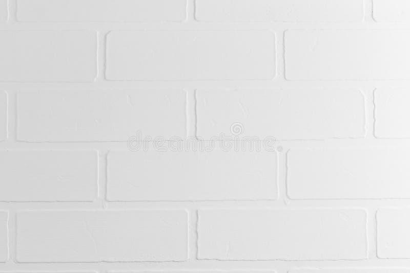 Parede de tijolo branca no close up do fundo do estúdio da foto foto de stock royalty free