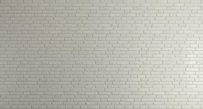 Parede de tijolo branca para o fundo ilustração royalty free