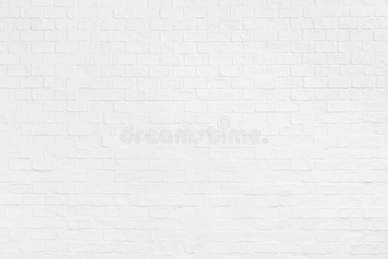 Parede de tijolo branca Textura e backgroun abstratos da parede da decoração imagem de stock