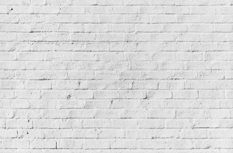 Parede de tijolo branca, textura sem emenda imagens de stock