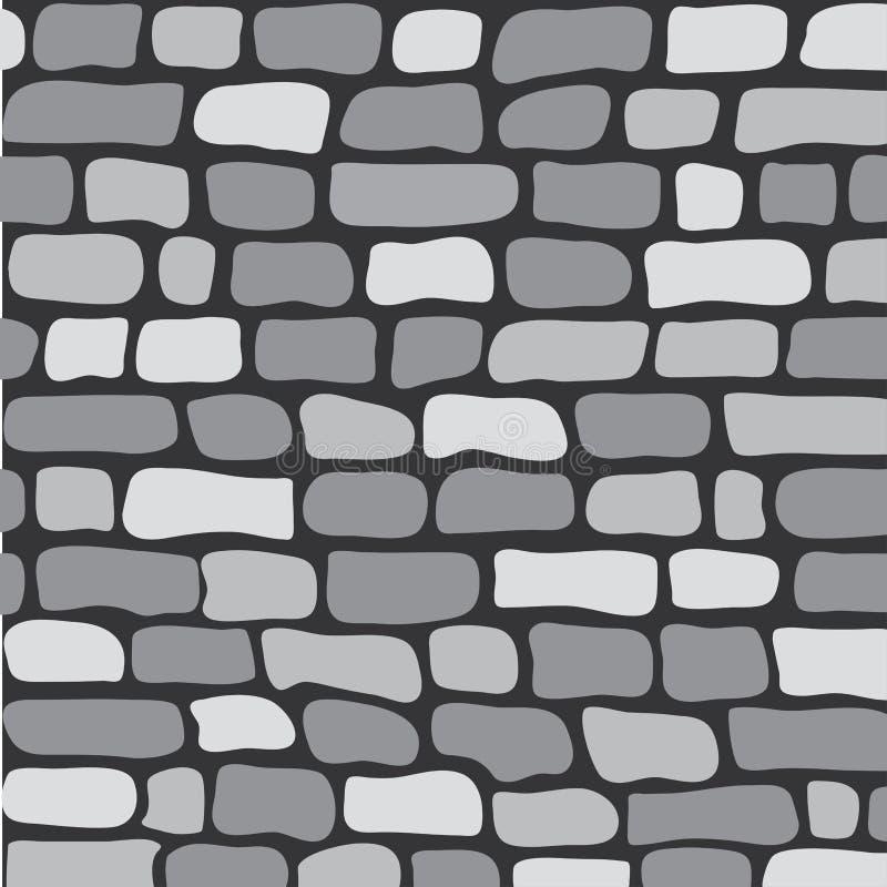 Parede de tijolo cinzenta do teste padrão sem emenda, vetor ilustração do vetor