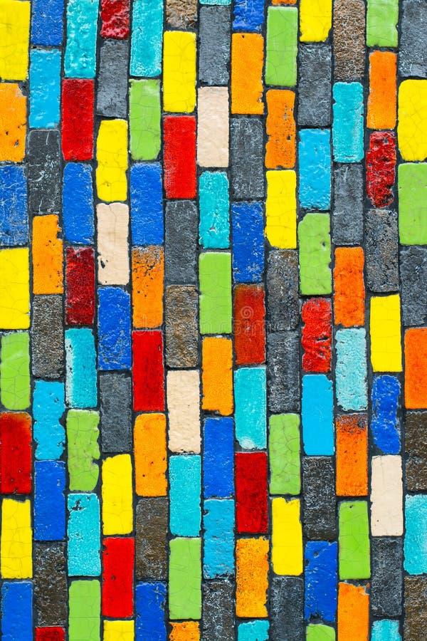 Parede de tijolo colorida fotos de stock royalty free