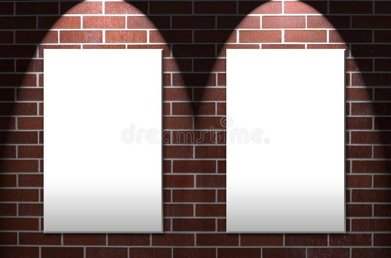 Parede de tijolo com áreas gêmeas da observação imagem de stock royalty free