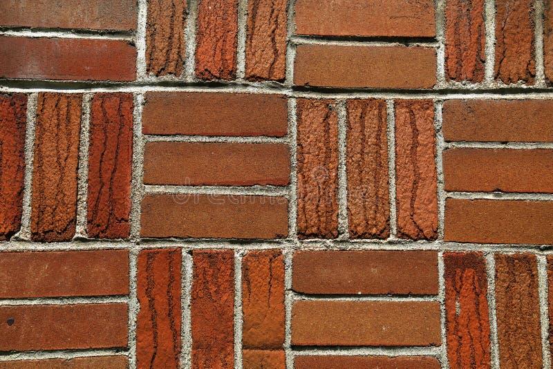 Parede de tijolo com estilo natural do tijolo e do mosaico fotografia de stock