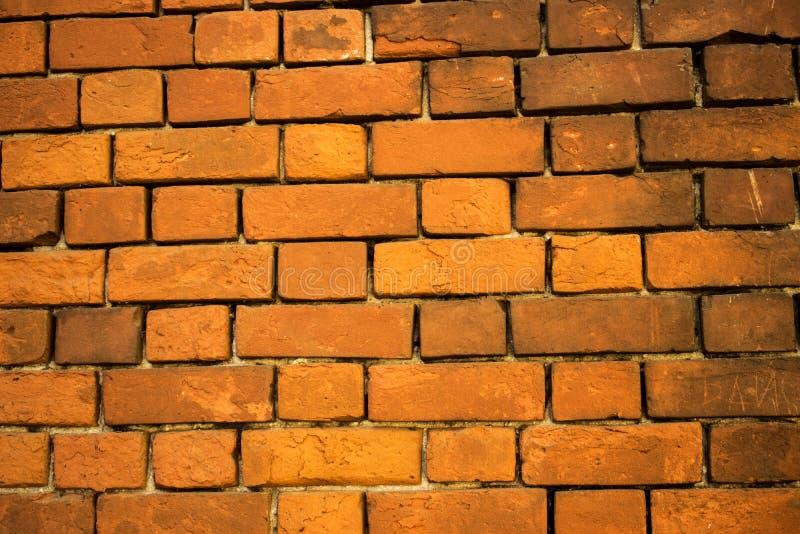 Parede de tijolo da cor vermelha, panorama largo da alvenaria foto de stock royalty free