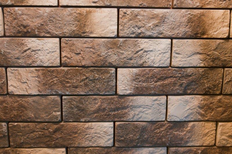 Parede de tijolo de pedra da textura da telha fotografia de stock