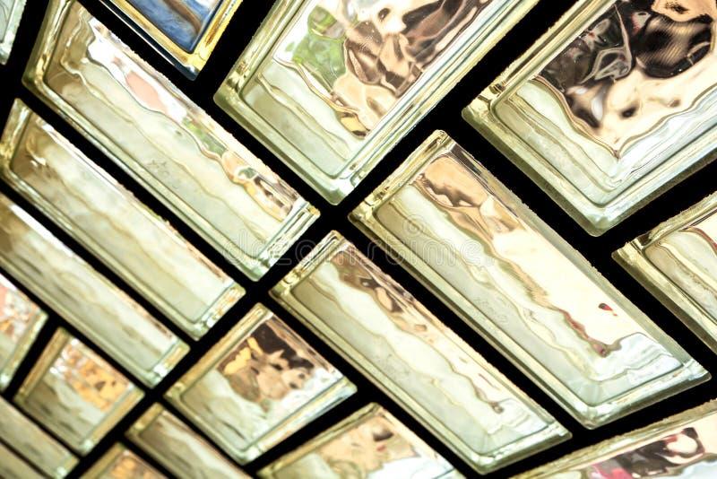 Parede de tijolo de vidro imagem de stock