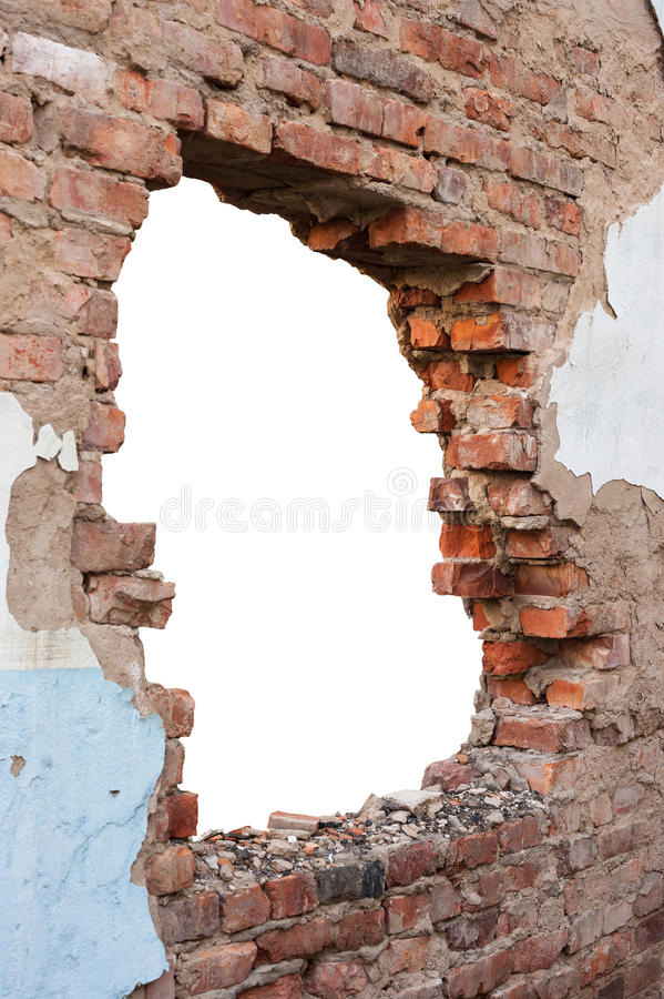 Parede de tijolo do furo imagem de stock royalty free