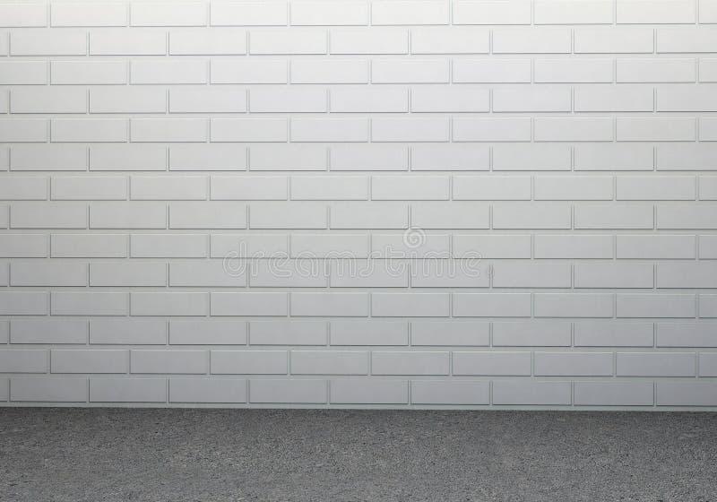 Parede de tijolo e assoalho concreto ilustração royalty free