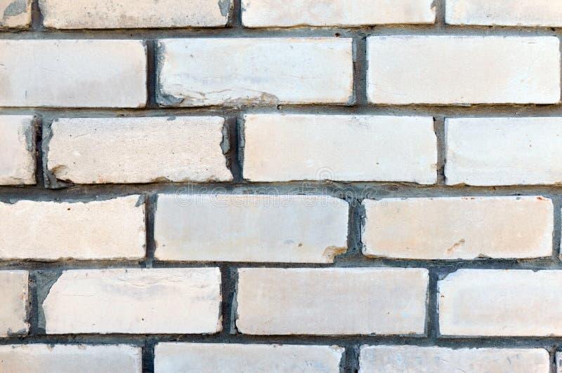 Parede de tijolo Fundo branco do tijolo para seus projetos Fim acima fotografia de stock royalty free