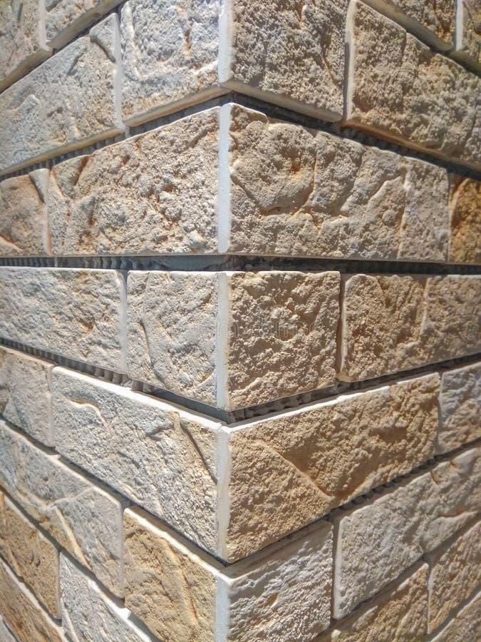 Parede de tijolo leve, fundo, clinquer foto de stock