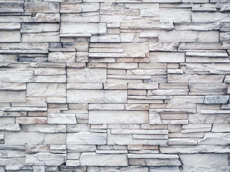 Parede de tijolo de pedra de mármore branca fotografia de stock