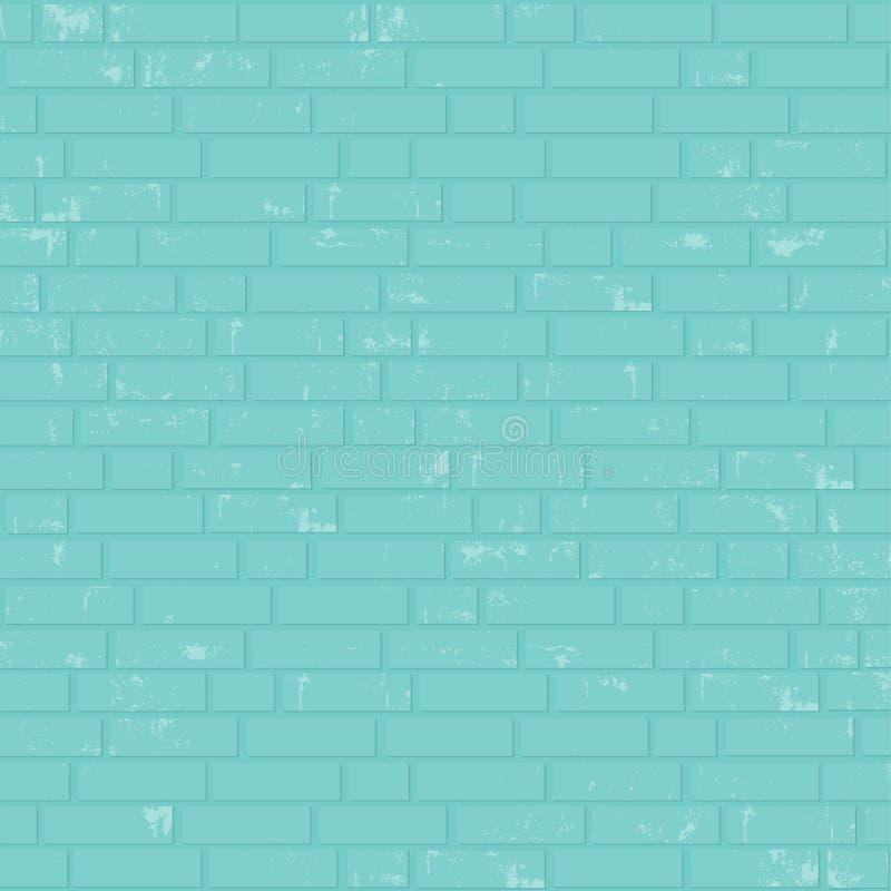 Parede de tijolo pintada ilustração royalty free