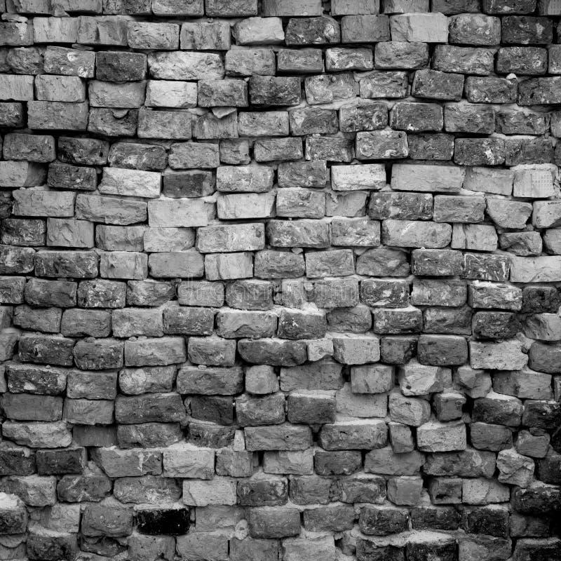 Parede de tijolo preto e branco imagens de stock royalty free