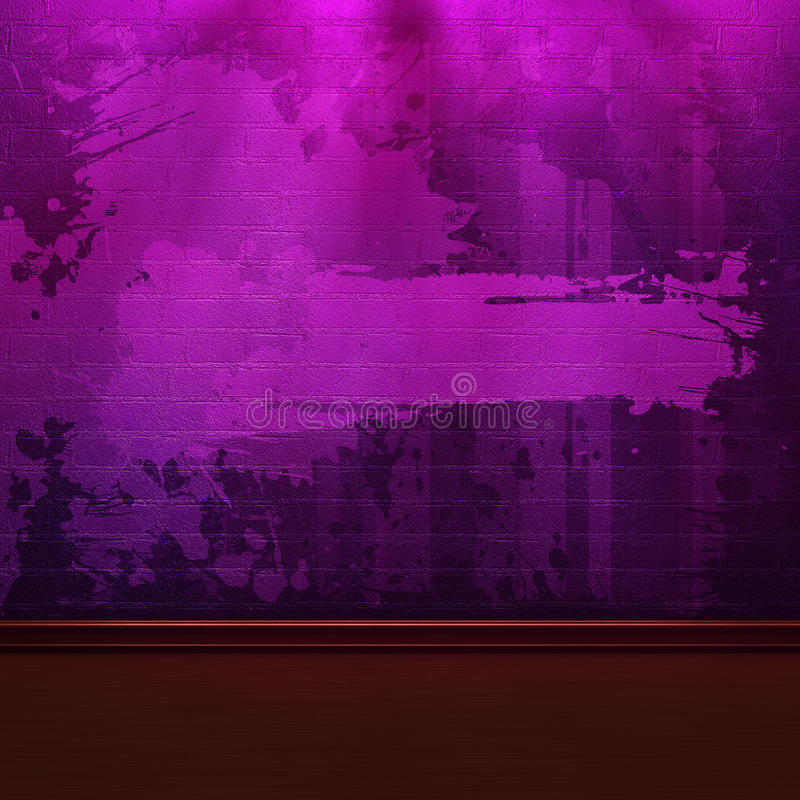 Parede de tijolo roxa ilustração do vetor