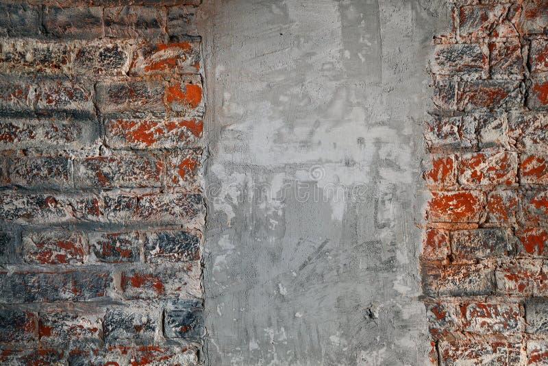 Parede de tijolo A superfície concreta Textura de Grunge fotos de stock royalty free