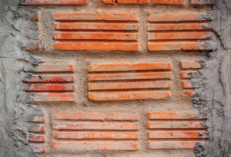 Parede de tijolo, textura do bloco de pedra vermelho fotos de stock