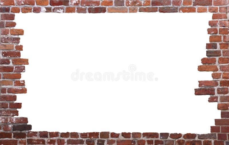 Parede de tijolo velha como um frame 01 foto de stock