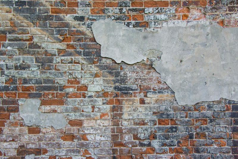Parede de tijolo velha Fundo fotografia de stock