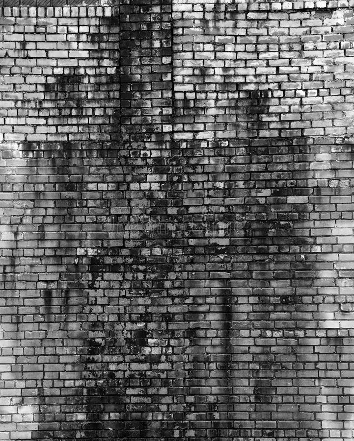 Parede de tijolo velha no estilo do grunge Fundo, textura de um tijolo foto de stock royalty free