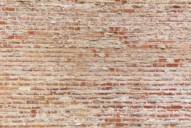 Parede de tijolo velha para o fundo fotografia de stock