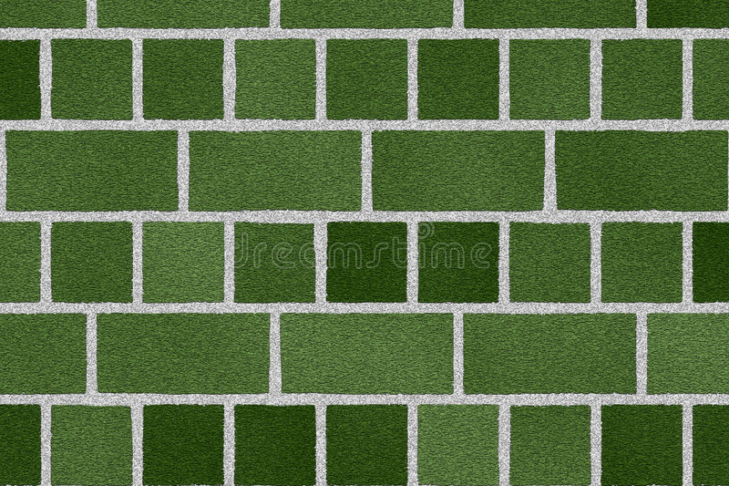 Parede de tijolo verde ilustração stock