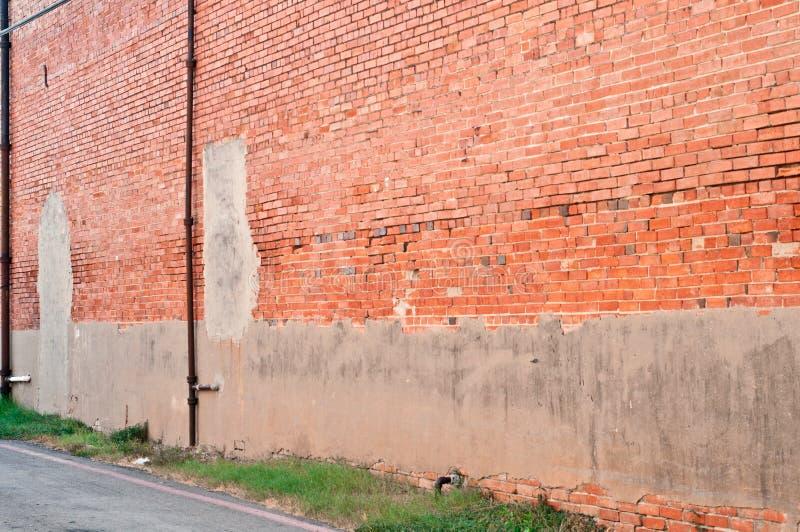 Parede de tijolo vermelho fotos de stock