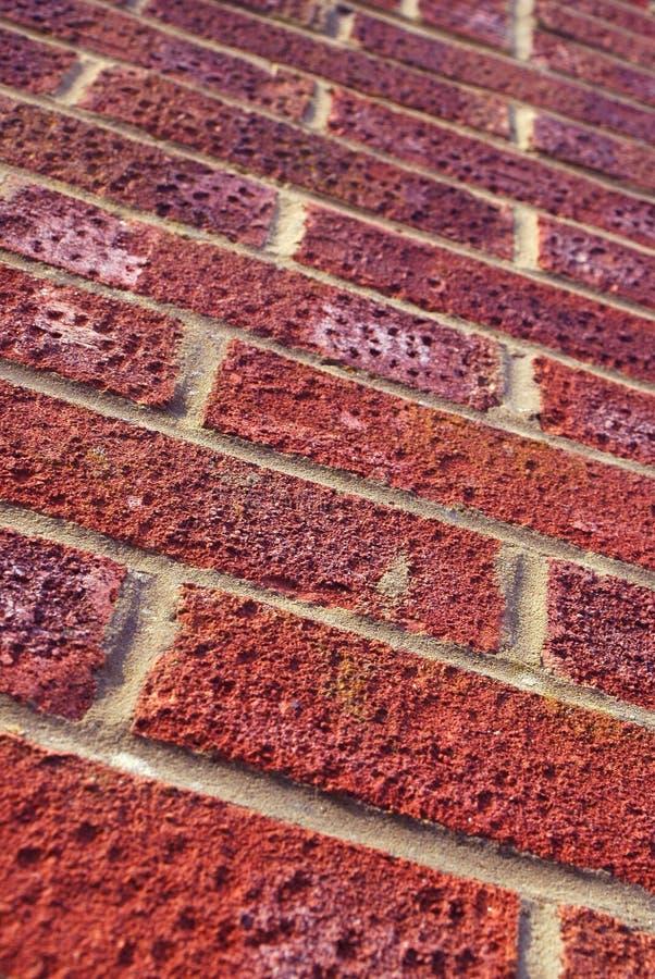 Parede de tijolo vermelho imagem de stock
