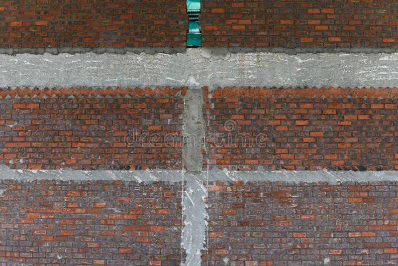 Parede de tijolo vermelho como o fundo e a textura foto de stock royalty free