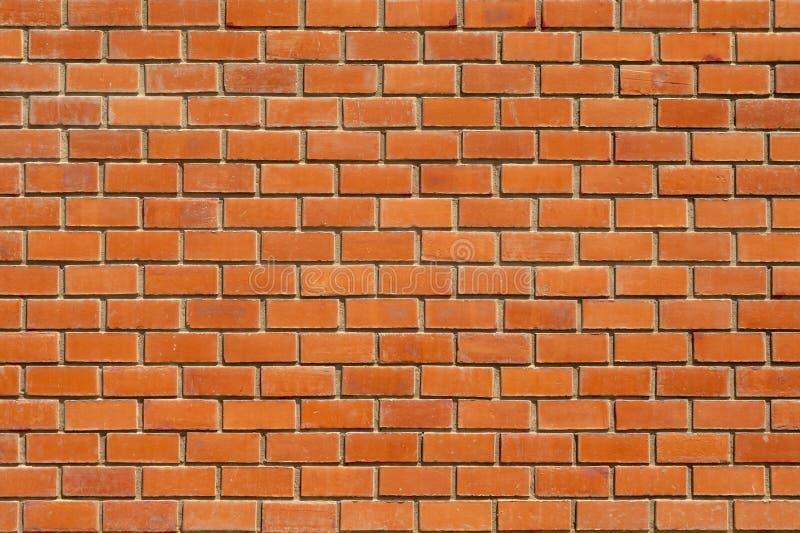 Parede de tijolo vermelho, fundo, foto da textura, parede agradável, tijolo uniformemente colocado fotos de stock